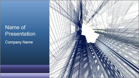 Abstract modern building PowerPoint Template
