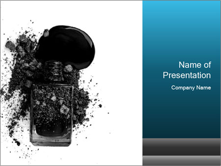 Nail polish with blots PowerPoint Templates