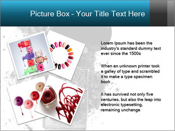 Nail polish with blots PowerPoint Templates - Slide 23
