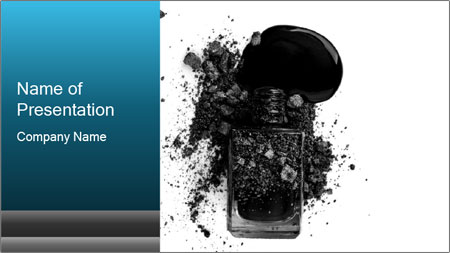 Nail polish with blots PowerPoint Template