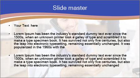 Cheerful man PowerPoint Template - Slide 2