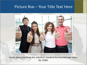 Businesspeople looking PowerPoint Template - Slide 16