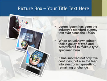 Businesspeople looking PowerPoint Template - Slide 17
