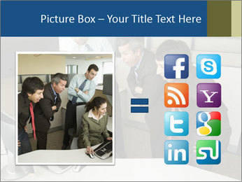 Businesspeople looking PowerPoint Template - Slide 21