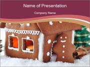 Gingerbread house PowerPoint Templates