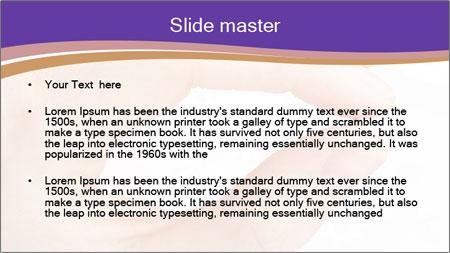 Female hand PowerPoint Template - Slide 2