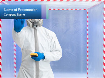 Bio hazard suit PowerPoint Template - Slide 1