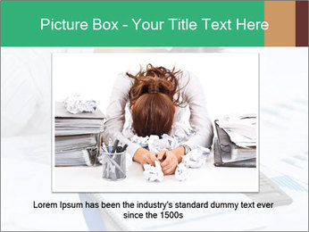 Woman sleeping at work PowerPoint Templates - Slide 15