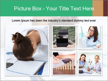 Woman sleeping at work PowerPoint Templates - Slide 19
