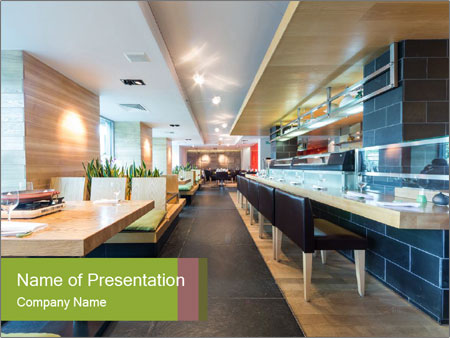 The modern cafe PowerPoint Templates