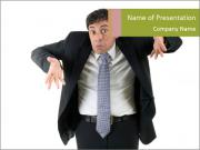 Expressive businessman PowerPoint Templates