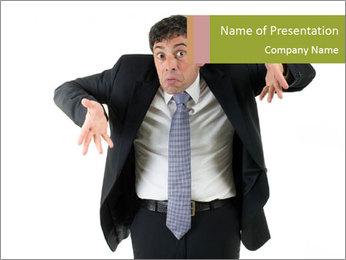 Expressive businessman PowerPoint Template - Slide 1
