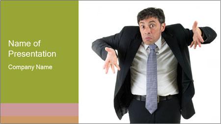 Expressive businessman PowerPoint Template