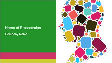 Speech concept PowerPoint Template