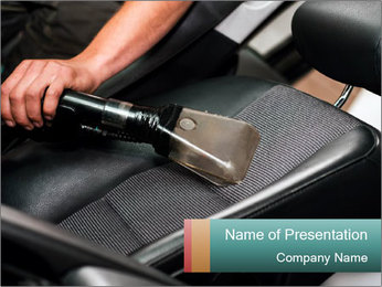 Auto car service cleaning PowerPoint Template - Slide 1