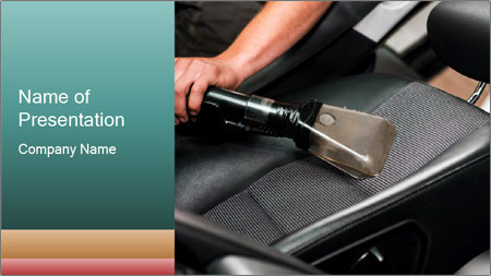 Auto car service cleaning PowerPoint Template