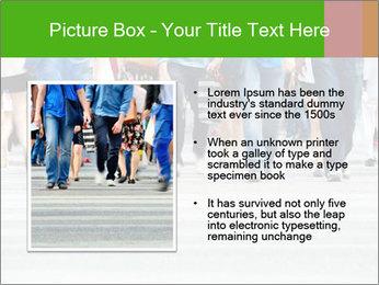 Crossing sunlit street PowerPoint Templates - Slide 13