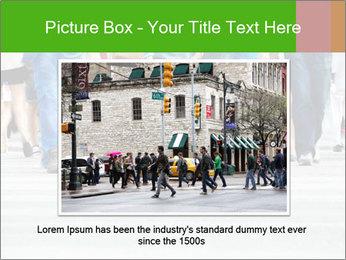 Crossing sunlit street PowerPoint Templates - Slide 15