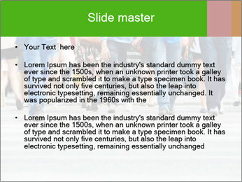 Crossing sunlit street PowerPoint Templates - Slide 2