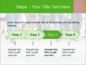 Crossing sunlit street PowerPoint Templates - Slide 4