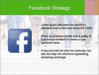 Crossing sunlit street PowerPoint Templates - Slide 6