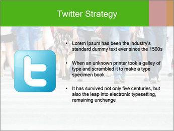Crossing sunlit street PowerPoint Templates - Slide 9