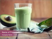 Avocado smoothie PowerPoint Templates