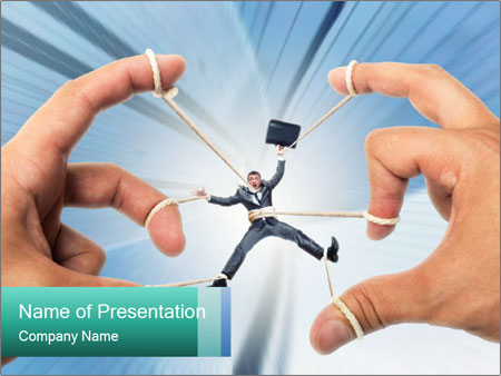 Stressed businessman PowerPoint Template