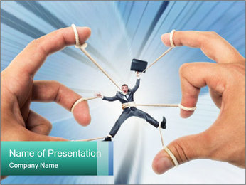 Stressed businessman PowerPoint Template - Slide 1