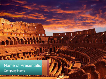 Ancient Colosseum PowerPoint Templates