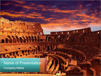 Ancient Colosseum PowerPoint Templates - Slide 1