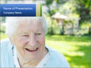 Senior woman PowerPoint Templates