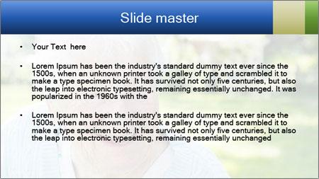 Senior woman PowerPoint Template - Slide 2