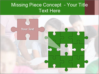 Young teacher assisting PowerPoint Templates - Slide 45