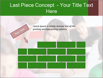 Young teacher assisting PowerPoint Templates - Slide 46
