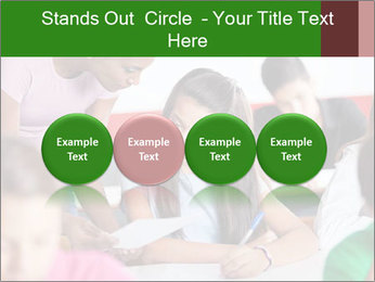 Young teacher assisting PowerPoint Templates - Slide 76