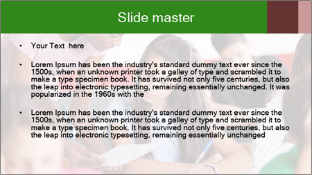 Young teacher assisting PowerPoint Template - Slide 2