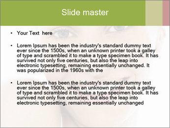 Closeup portrait PowerPoint Template - Slide 2