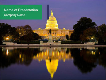 The Capitol Building PowerPoint Template - Slide 1