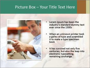 Worker Scanning Package PowerPoint Templates - Slide 13
