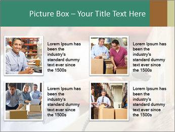 Worker Scanning Package PowerPoint Templates - Slide 14