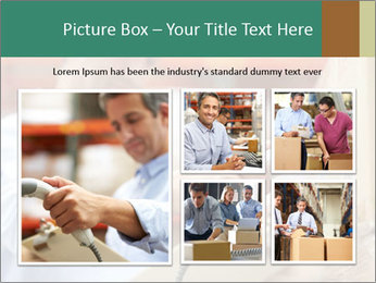 Worker Scanning Package PowerPoint Template - Slide 19