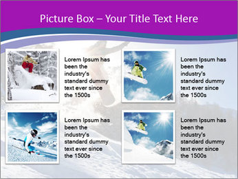 Snowboarder jumping PowerPoint Templates - Slide 14