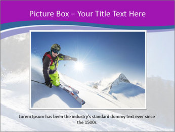 Snowboarder jumping PowerPoint Templates - Slide 15