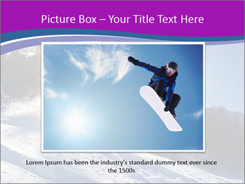 Snowboarder jumping PowerPoint Templates - Slide 16