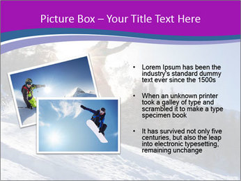 Snowboarder jumping PowerPoint Templates - Slide 20