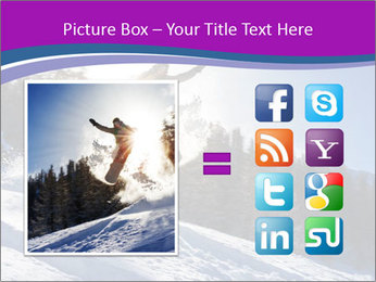 Snowboarder jumping PowerPoint Templates - Slide 21