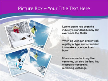 Snowboarder jumping PowerPoint Templates - Slide 23