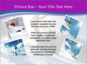 Snowboarder jumping PowerPoint Templates - Slide 24
