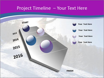 Snowboarder jumping PowerPoint Templates - Slide 26